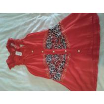 Blusa Importado Color Rojo Con Estampado. Talla Unica