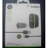 Cargador Belkin Pared Y Ahorrador + Cable Iphone 3 3s / 4 4s