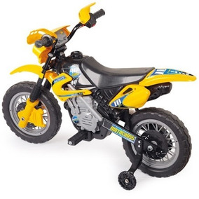 Moto Elétrica Infantil Motocross - Amarela Homeplay