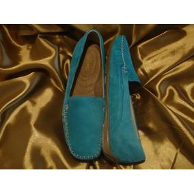 #29½ Zapatos Tipo Mocasin Para Dama De Gamuza Xg Xl