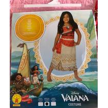 Disfraz Moana Original Disney Vestido Una Pieza Talle L 6-8