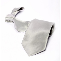 Gravata Prata Riscada Semi Brilho Ternos Formatura Padrinhos