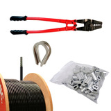Kit De Reparacion Cable Nylon Negro Aparatos Gimnasio 3/16