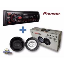 Estereo Pioneer Mvh-85ub + Parlantes 6,5 550watts Oferta!!!