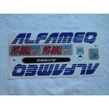 Adesivo Colante Para Bike Alfameq Pit-bull Azul Frete Grátis