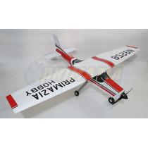 Aeromodelo Cessna 182 150cm Montado E Entelado Arf Treinador