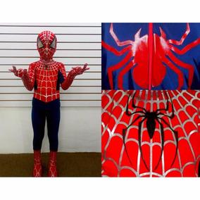 Disfraz Hombre Araña, Capitán América Licra Calidad Premium.