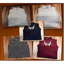 Kit 10 Peças Cropped Top Blusa Moda Blogueira Várias Cores
