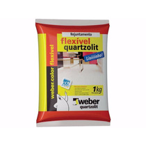 Rejunte Quartzolit Para Porcelanato Com 1kg Bege