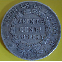 Bolivia 50 Centavos Plata 1880.................... Blamanan