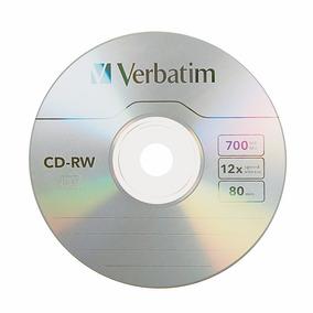 Cd-rw Regrabable Verbatim 700mb/80min Individuales Con Sobre