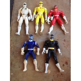 Lote De Bonecos Antigos Street Fighter Power Rangers E Drago