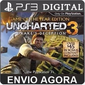 Uncharted 3 Ps3 Psn Código Dublado