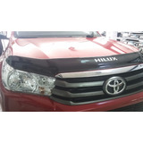 Deflector De Capot Toyota Hilux 2016-2017 Logo Revo Rojo