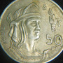 Moneda 50 Centavos 1950 Cuauhtemoc Aguila Que Cae Plata