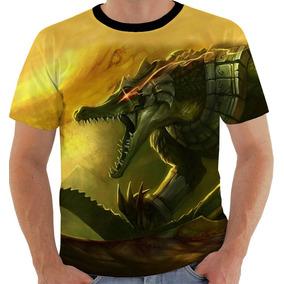 Camiseta Ou Baby Look Ou Regata League Of Legends Renekton