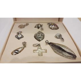 9 Dijes-plata -cristal Murano- Color Plata