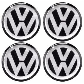 Logotipo Volkswagen P/ Calota Ou Roda C/4 Peças 68mm