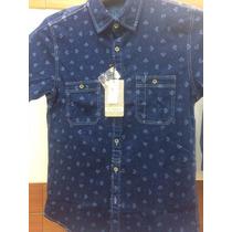 Camisa Caballero Estivaneli 100% Original Jean Strech!!