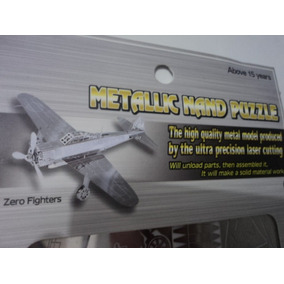 Quebra Cabeça 3d Avião Em Aço