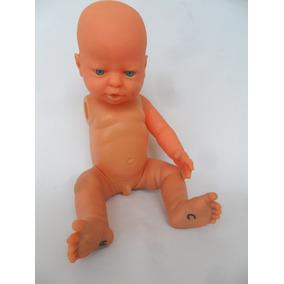 Boneco Bebê Menino Em Plástico E Borracha Falta 1 Braço
