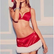 Victorias Secret Lencería Falda Santa Roja Satén