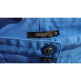 Pantalón Azul De Vestir Bota Ancha Sin Uso Talla M 40