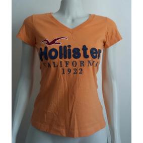 Camiseta Feminina Hollister Algodão Lavado 2 Peças