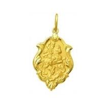 Medalha De São Jorge Ornato 1,5cm Ouro Amarelo