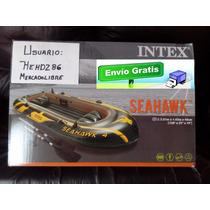 Lancha Intex Seahawk 4personas Nueva Y Equipada