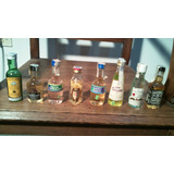 Lote De 8 Mini Botellas De Colección Adorno , Vitrina.