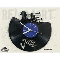 Original Reloj De Pared Disco Acetato Lp - Jazz Musica