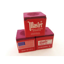 Giz Master Vermelho Profissional Para Taco De Bilhar 3 Peças