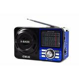 Caixa De Som Portátil Hw8088 Rádio Mp3 Sd Usb Am Fm 9 Bandas