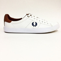 Sapatenis Fred Perry Masculino Branco Gbm Outlet