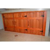 Mueble Bajo Mesada Rustico Eucaliptus 3 Puertas