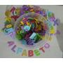 Pote Com 312 Letras Em Eva Com Glitter( 12 Alfabetos)