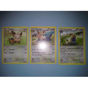 Vendo Evolução De Estágio 2 De Cartas Pokemon - 3 Cartas