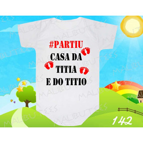 Body Bebe #partiu Casa Da Titia E Do Titio Frases Divertido