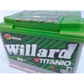 Batería Carro Willard Titanio 800 Respaldo Peláez Hermanos