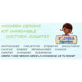 Kit Imprimible Doctora Juguetes Adornos Invitaciones Y+