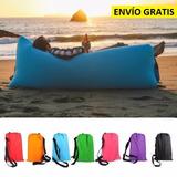 Cama Sillón Inflable Lamzac Bolsa De Dormir Playa Colores