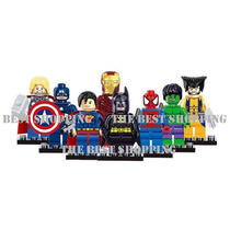 Set 8 Figuras Superheroes Compatible Lego Superman Ironman