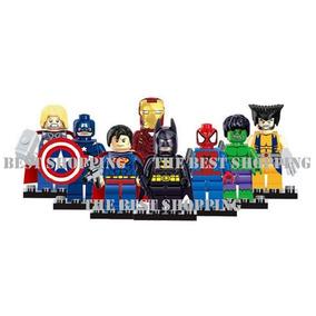 Set 8 Figuras Superheroes Compatible Lego Superman Ironman