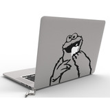 Mac Macbook Sticker Laptop Calca Come Galletas Plaza Sesamo