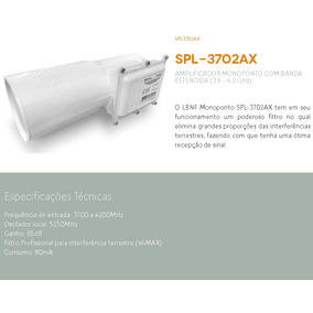Spl-3702ax Lnbf Monoponto Banda C Parabólica Greatek Anadigi