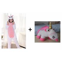Pijama Unicórnio Modelos Adulto + Pelúcia Unicónio Prontos