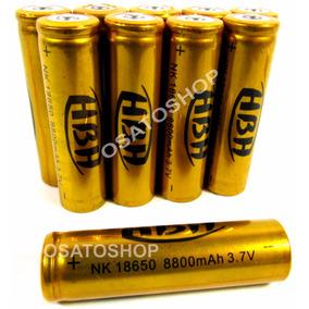 Bateria 18650 8800mah 3.7v Recarregável, Com Chip Proteção