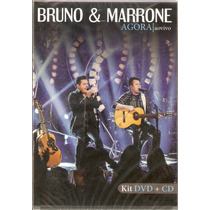 Cd / Dvd Bruno & Marrone - Agora Ao Vivo - Novo***