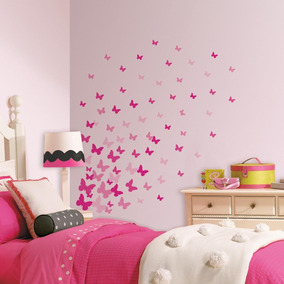 Calcomanias Mariposas Rosas P Decorar Pared - Blakhelmet Nsp